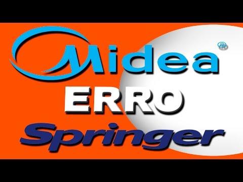 Código de erro Midea e Springer