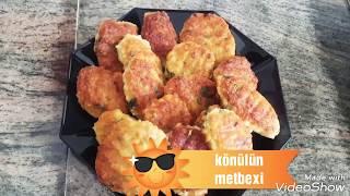 Toyuq Kotleti - Tavuk Köftesi. Cox lezzetli kotletin hazirlanmasi