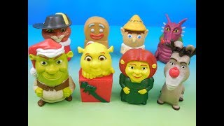 2007 SHREK THE THIRD SET OF 8 McDONALDS HAPPY MEAL KIDS MOVIE TOYS VIDEO REVIEW