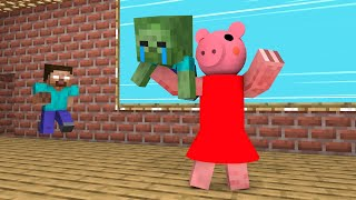 Monster School : Rescue Baby Zombie from Piggy - Funny Minecraft Animation