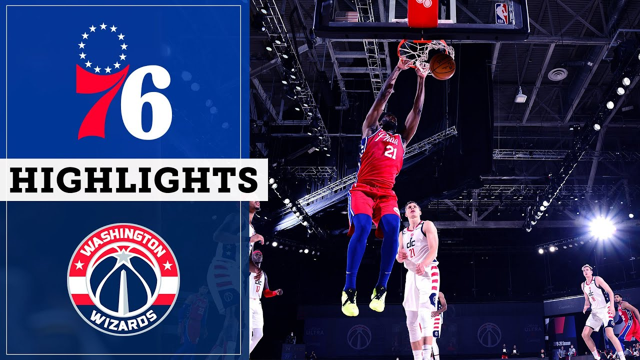 Sixers at Wizards: August 5, 2020 | Highlights & Sound | NBC Sports Philadelphia