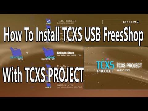 TCXS Project With 9 USB Freeshop Han exploit 4 82 OFW - YouTube