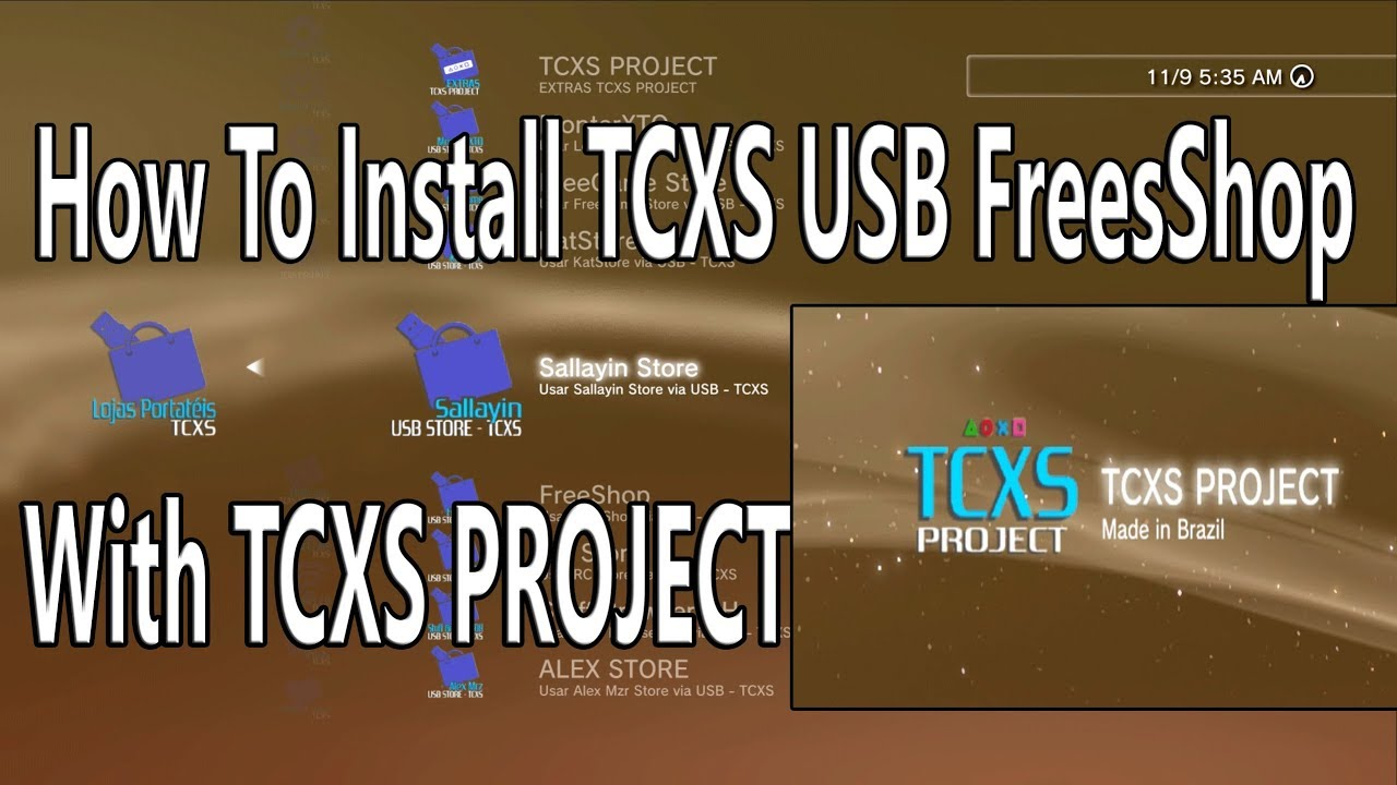 TCXS Project With 9 USB Freeshop Han exploit 4 82 OFW