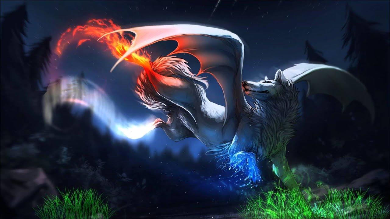 Fantasy White Wolf