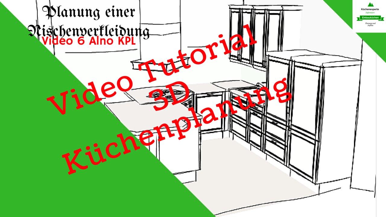nischenverkleidung mit dem alno 3d k chenplaner einplanen tutorial youtube. Black Bedroom Furniture Sets. Home Design Ideas