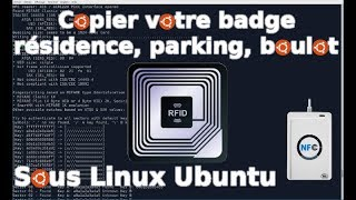 copie badges/cartes RFID sous Linux Ubuntu
