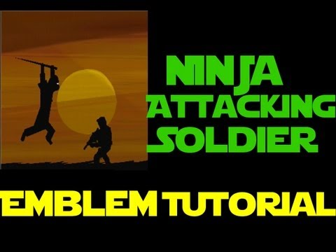 Black Ops 2 - Ninja Attacking Soldier - Emblem Tutorial