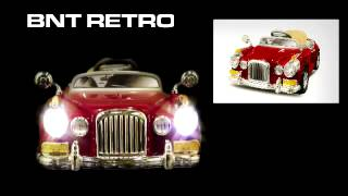 Elektro Kinderauto BNT Retro 2x 22W Motor Elektroauto Kinderfahrzeug Ferngesteuert RC MP3