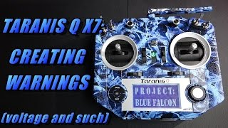 Taranis Q X7: Creating Warnings & Switch Sounds (for voltage, alt, and more