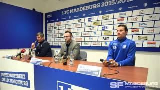 Pressekonferenz vor dem Spiel - 1. FC Magdeburg gegen Stuttgarter Kickers – www.sportfotos-md.de