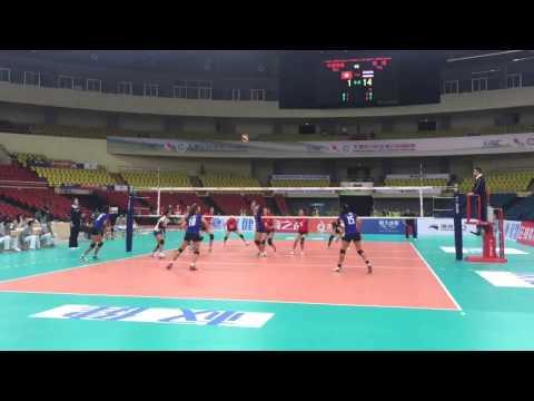 วอลเลย์บอลหญิงชิงแชมป์เอเชีย ไทย พบ ฮ่องกง