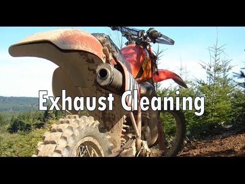 Dirtbike Exhaust Cleaning
