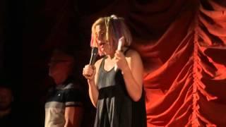 David Mitchell with Lana Wachowski at the Music Box Theatre 1 of 5