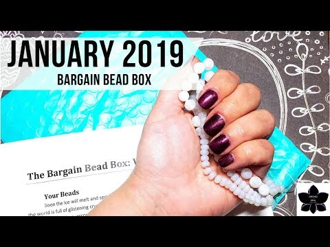 January 2019 Bargain Bead Box Monthly Subscription Unboxing | Beaded Jewelry Making