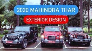 2020 Mahindra Thar SUV Soft Top & Hard Top - Exterior Design (Hindi + English)