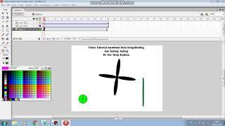 Flash 8 Tutorial membuat animasi bola bergelinding dan baling-baling