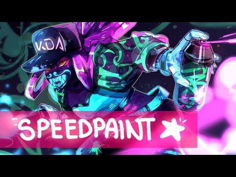 {speedpaint} K/da Akali   League Of Legends