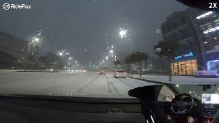 라이드플럭스 눈길 자율주행 (Snow On The Way To RideFlux Office)