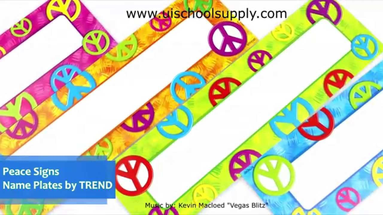 Peace Signs Name Plates By TREND Enterprises T-69908
