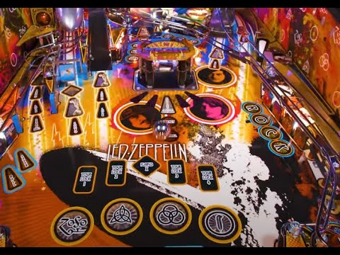 Led Zeppelin Pinball Machine line announced in collab w/ Stern Pinball..!