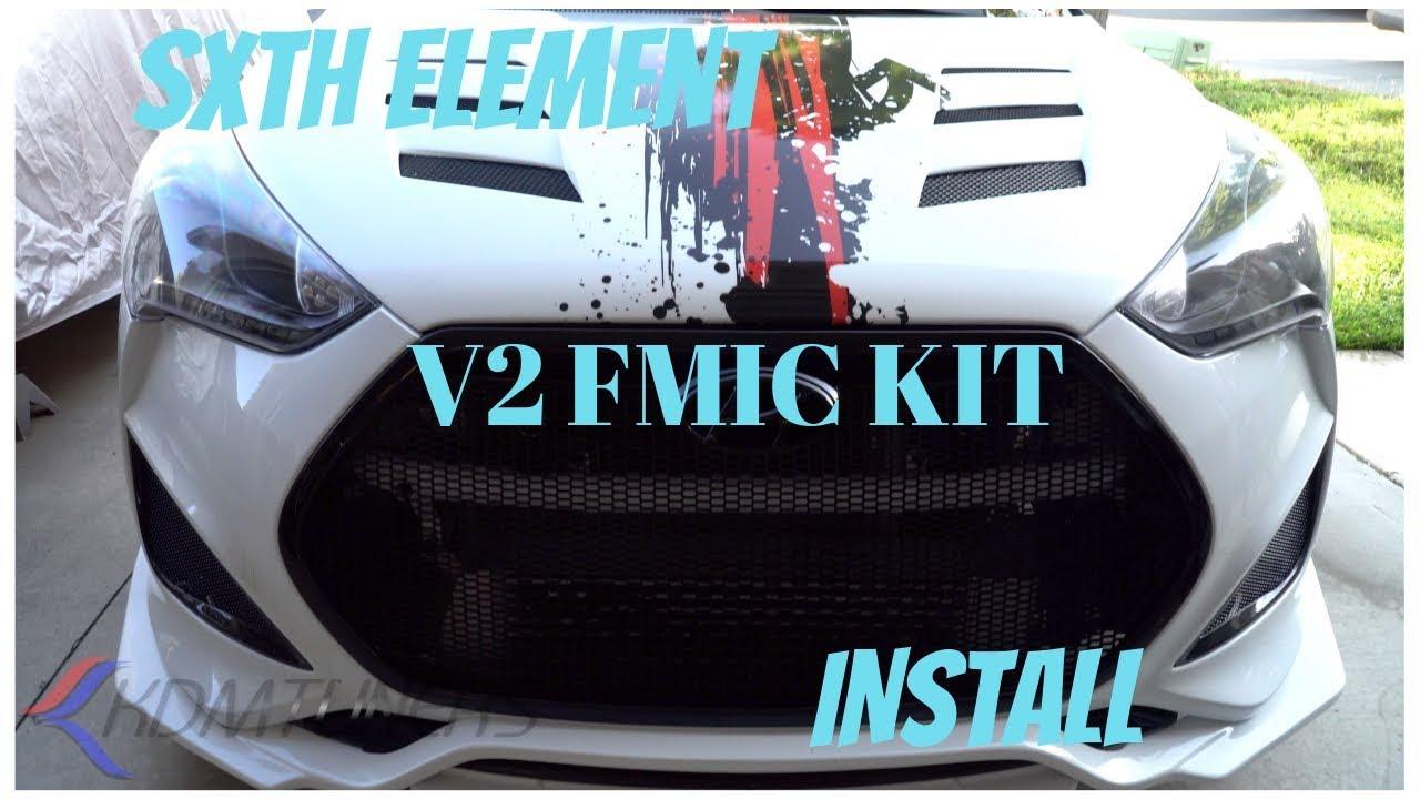Sxth Element V2 FMIC Install Veloster Turbo Show Car