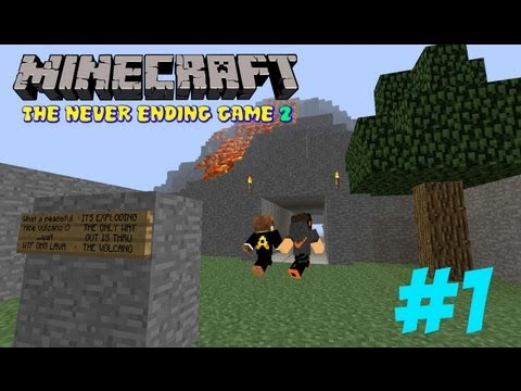 Minecraft Adventure Map: The Never Ending Game 2 #1 (Με AntonisX007GR) (Νέο Κανάλι: ShyloPlays)