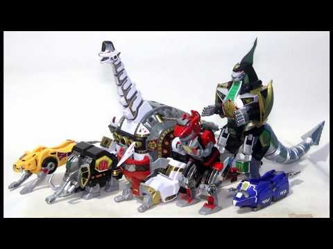 Legacy Titanus review, Mighty Morphin Power Rangers キングブラキオン&究極大獣神 Toy ASMR