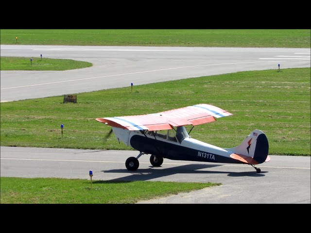 Fisher Horizon 2 taxi and takeoff-William T. Piper Memorial Airport