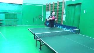 Уроки настольного тенниса №4  Толчок слева