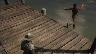 Red Dead redemption 2: Funny Moments [I wonder if he can swim]