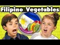 KIDS EAT FILIPINO VEGETABLES! | Kids Vs. Food