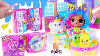 КРУЖОК РИСОВАНИЯ КЛЯКСЫ! LOL Surprise Doll + MLP & Shopkins Blind Bags Видео для Детей с Куклой ЛОЛ
