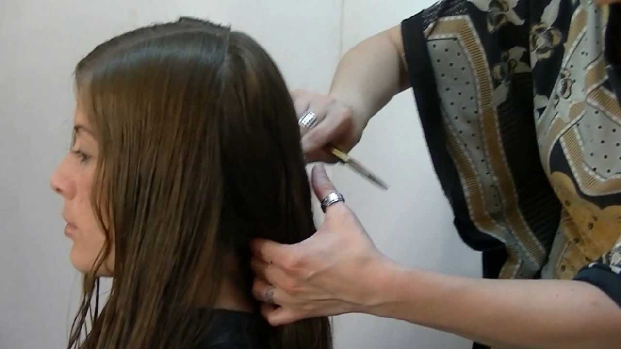 Corte de pelo forma redonda