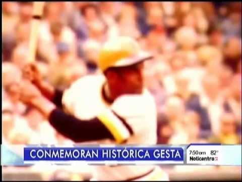 ROBERTO CLEMENTE, SU HIT 3,000 FUE CONMEMORADO (VIDEO ACTUAL)