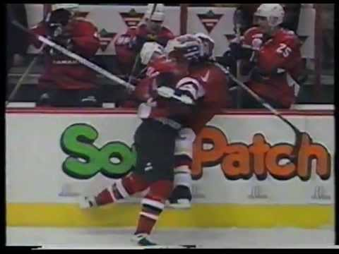 Hockey rough stuff - 1996 World Cup of Hockey pt.1/3
