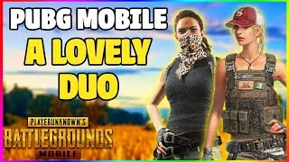 WHEN I MET A GIRL IN MY GAME 🤩 PUBG MOBILE FUNNY GAMEPLAY [ GIVING ALL KILLS TO HER ]