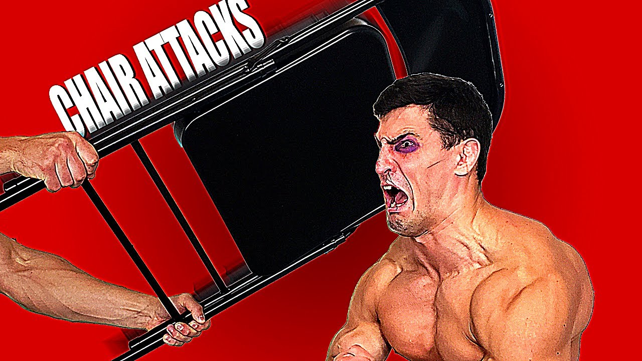 Metal Chairs VS My Face Experiment *POSSIBLE CONCUSSION* | Bodybuilder VS Crazy WWE Chair Shots