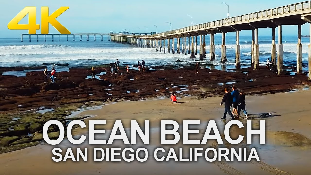 OCEAN BEACH - San Diego, Sunday Morning, California, USA, Travel, 4K UHD