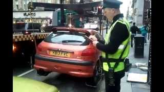 Towing car in Uk Glasgow (HD)