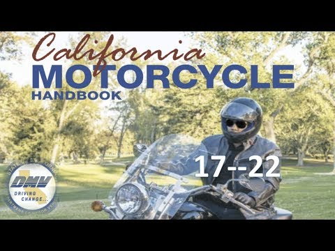 Motorcycle handbook license requirements.