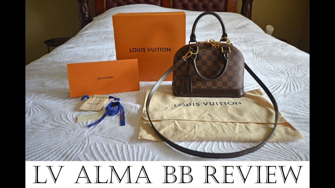 c6e8e10132e28 Louis Vuitton Alma BB Review in Damier Ebene canvas inc Louis Vuitton  history
