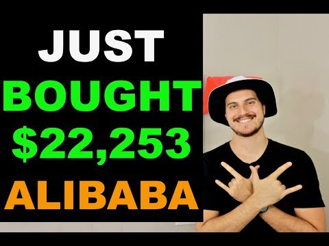 I JUST BOUGHT $22,253 OF ALIBABA STOCK