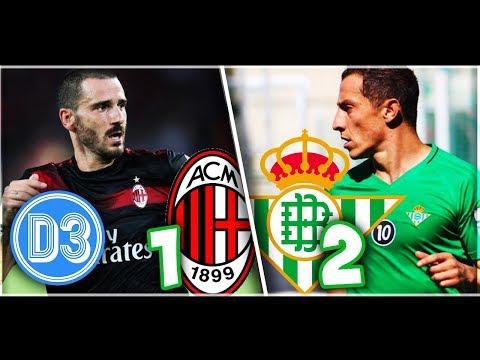 AC MILAN 1-2 REAL BETIS   Andrés Guardado 58Min   Resumen Completo y Goles ★ D3D2