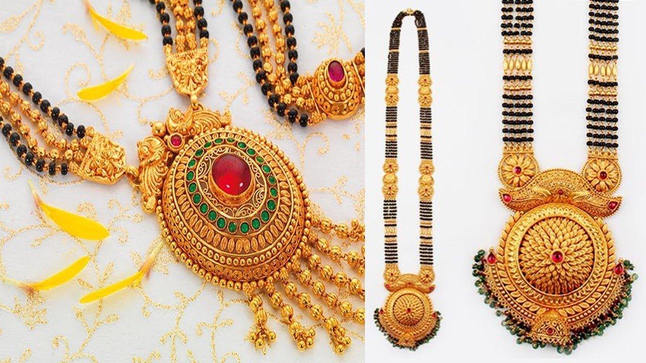 Heavy Gold Mangalsutra Designs