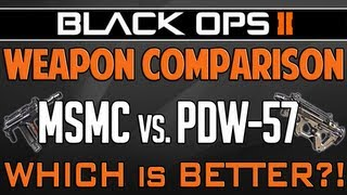 black ops 2 msmc vs pdw 57 weapon comparison bo2 multiplayer gameplay