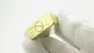 Rare 18K 750 Gold S. T. Dupont Ligne 1 Hermes Lighter 1960 60's years / Antique