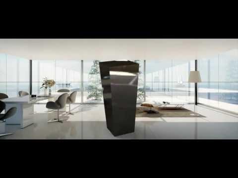 Blumenvase Edelstahl Vase Schirmständer - YouTube