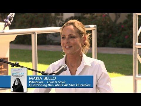 Maria Bello stage presentation at the LA Times Festival of Books