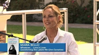 Maria Bello stage presentation at the LA Times Festival of Books