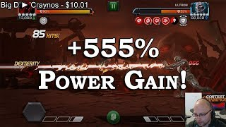 555% Power Gain Boss! - Rapid Fire Specials | Marvel Contest of Champions